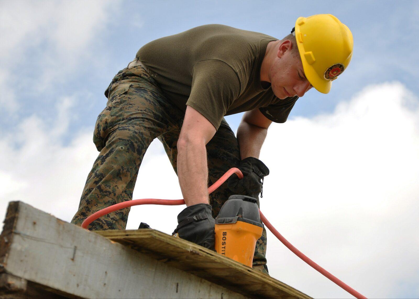 General Construction Labourer working on jobsite