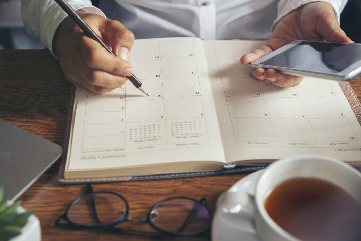 Planning schedule at elite jobs