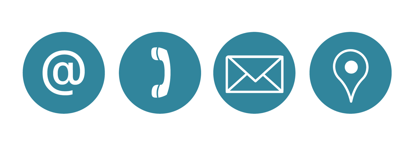 email phone address icons